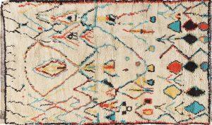 Colorful Tribal Berber Moroccan Rug